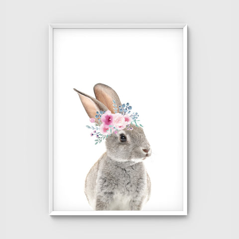//FLOWER CROWN BUNNY- PASTEL//