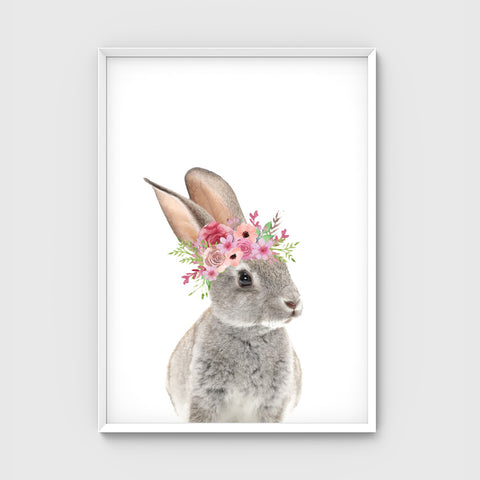 //FLOWER CROWN BUNNY- BLUSH//