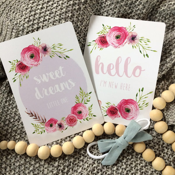 //MILESTONE CARDS - FLORAL//