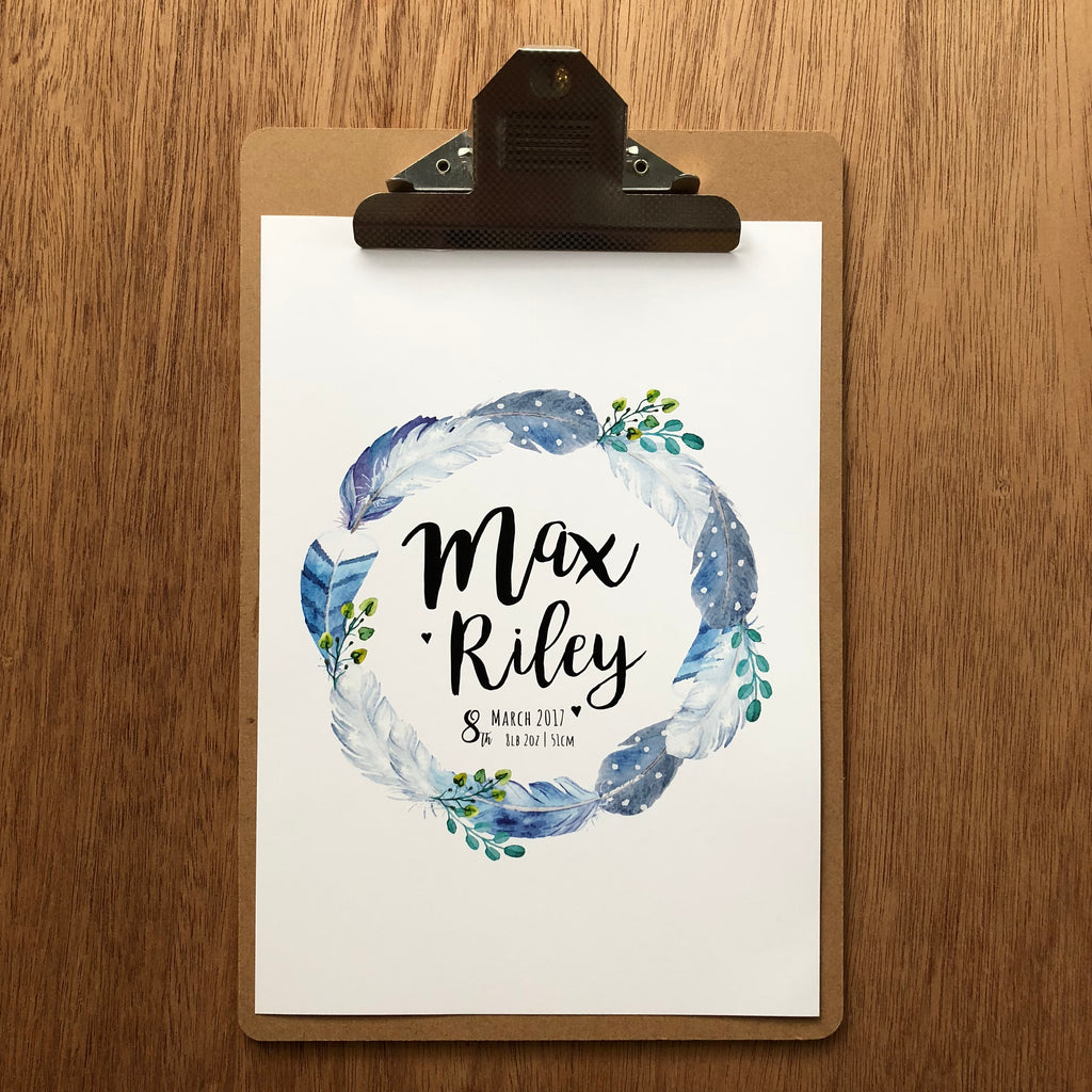 "//CUSTOM NAME - ""MAX RILEY-BOHO"" SAMPLE//"