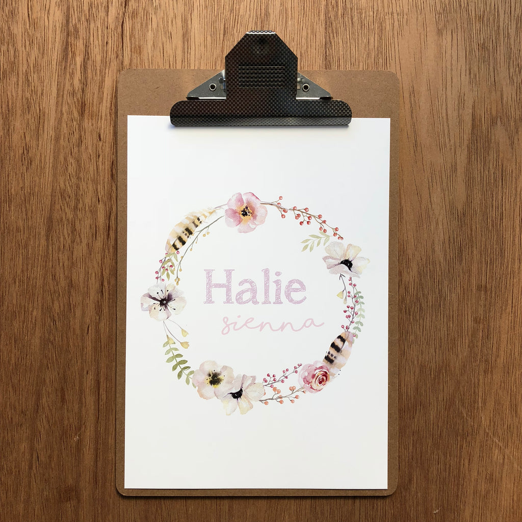 "//CUSTOM GIRLS NAME - ""HALIE"" SAMPLE//"