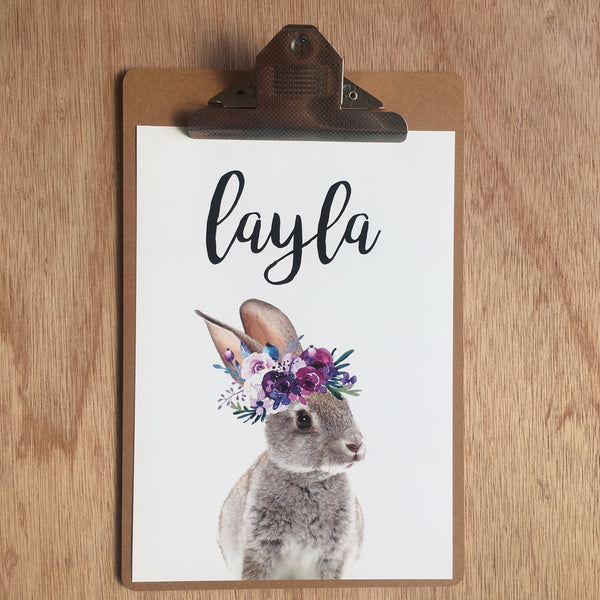 "//CUSTOM GIRLS NAME - ""LAYLA BUNNY"" SAMPLE//"