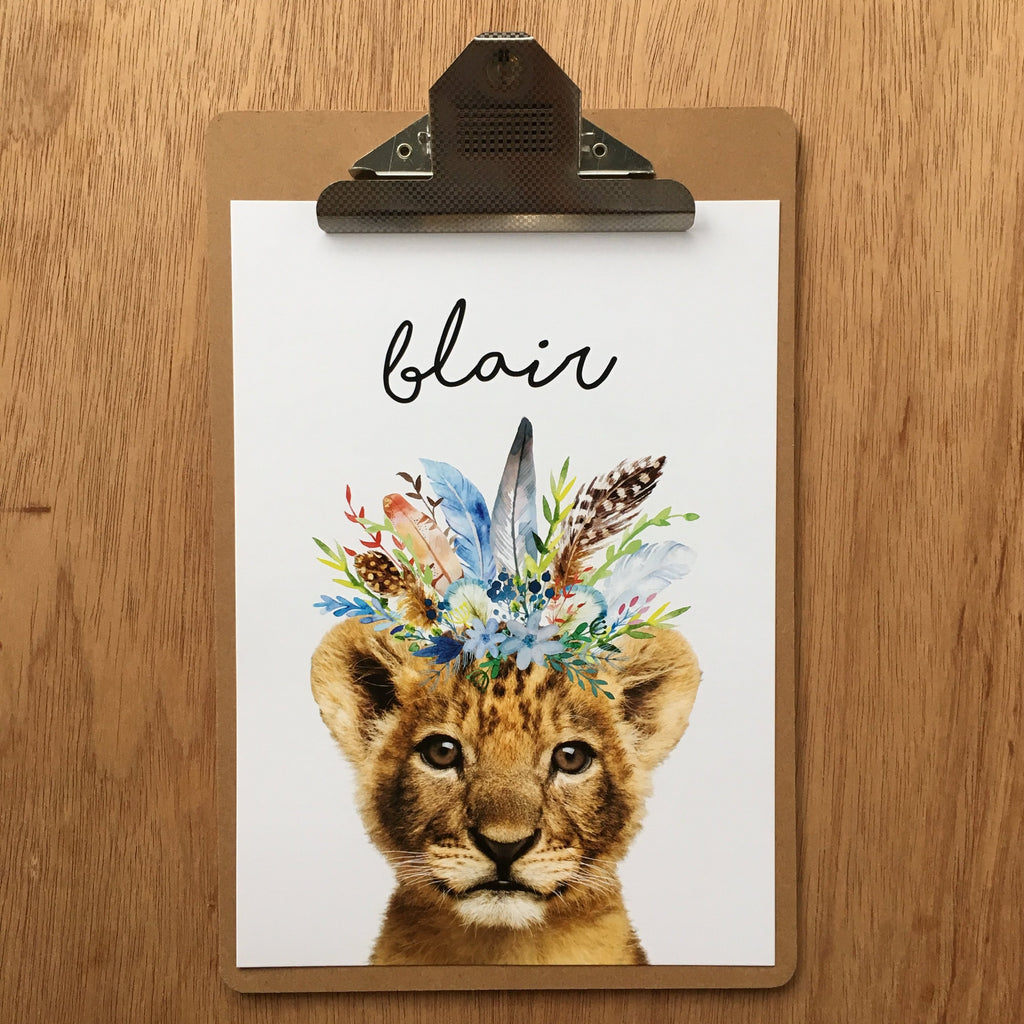 "//CUSTOM NAME - ""BLAIR LION"" SAMPLE//"