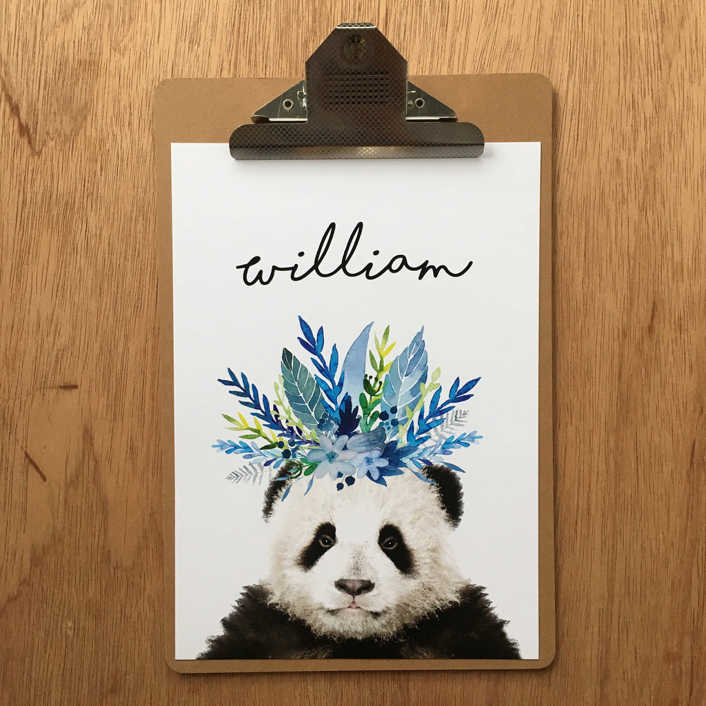 "//CUSTOM NAME - ""WILLIAM PANDA"" SAMPLE//"