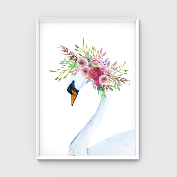 //FLOWER CROWN SWAN//