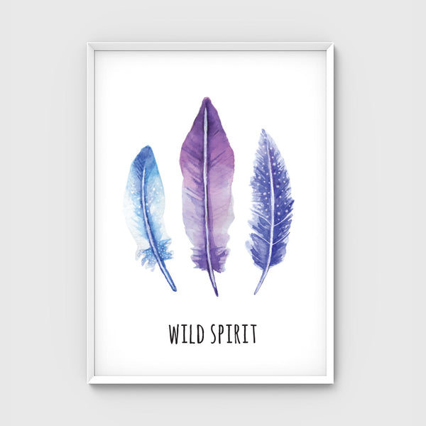 //WILD SPIRIT FEATHERS-PURPLE//