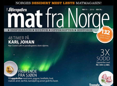Svalbarði in Norway's largest food magazine