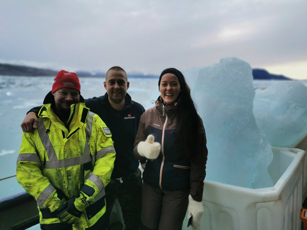 iceberg gathering expedition in the arctic