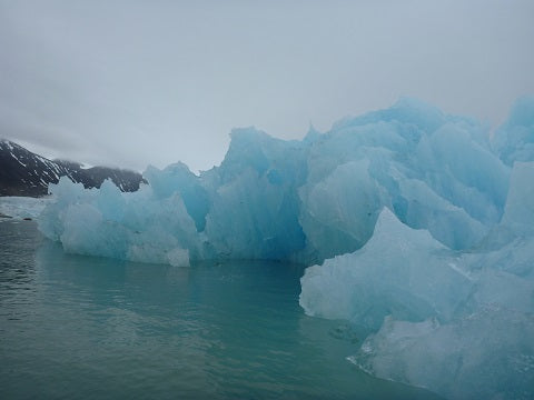 Jagged iceberg in Svalbard