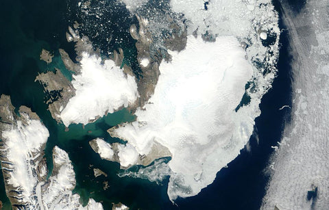 winter ice decline in svalbard climate change