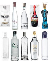 Bottles of top 10 most expensive water brands in 2019