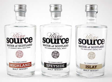 Uisge Source water 100ml glass bottles