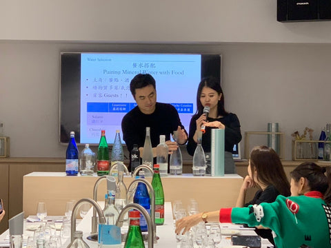 Water tasting event in Taiwan with Waterselection distributors