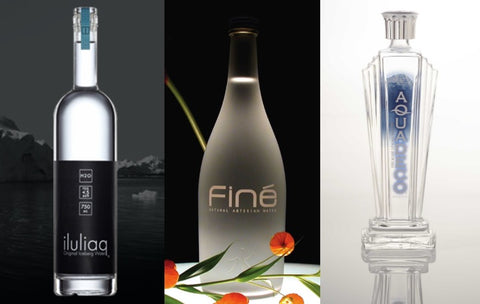 Discontinued bottled water brands Iluliaq, Fine, and Aqua Deco