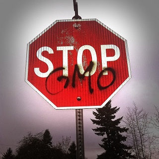 Stop GMOs sign