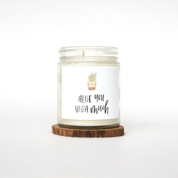 """Aloe You Vera Much"" Soy Candle"