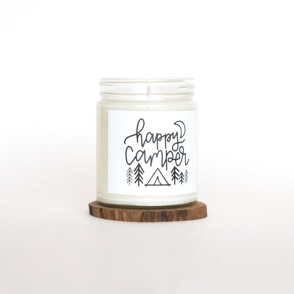 """Happy Camper"" Soy Candle"