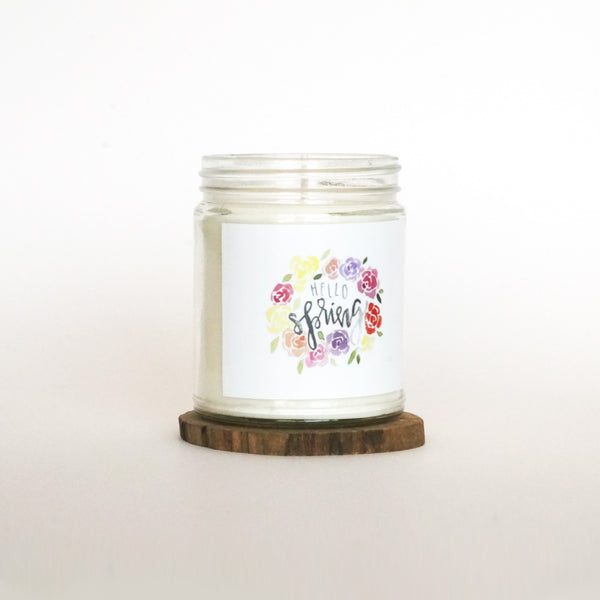 """Hello Spring"" Soy Candle"