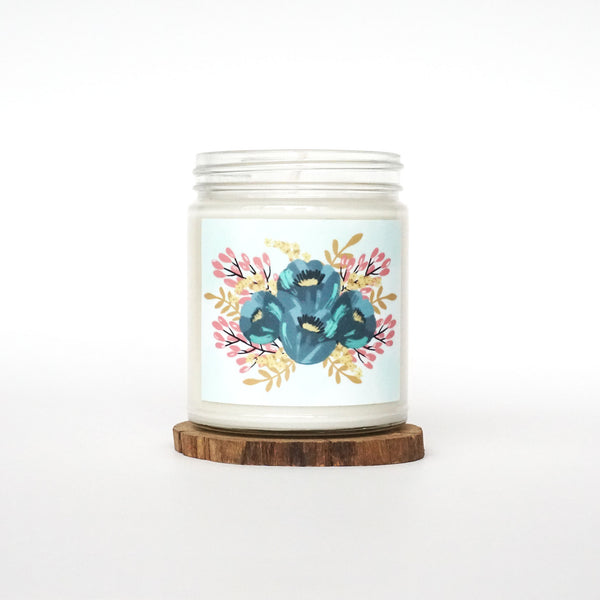 """Love Blooms Here"" Soy Candle"
