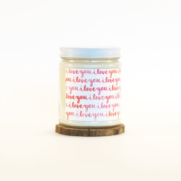"""I Love You"" Soy Candle"