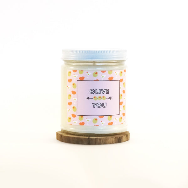 """Olive You"" Soy Candle"
