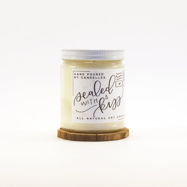 """Sealed With A Kiss"" Soy Candle"