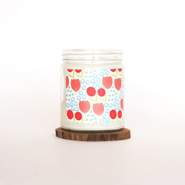 """Spring Florals"" Soy Candle"