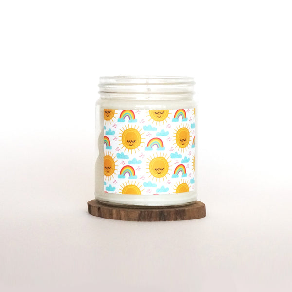 """Sunshine and Rainbows"" Soy Candle"