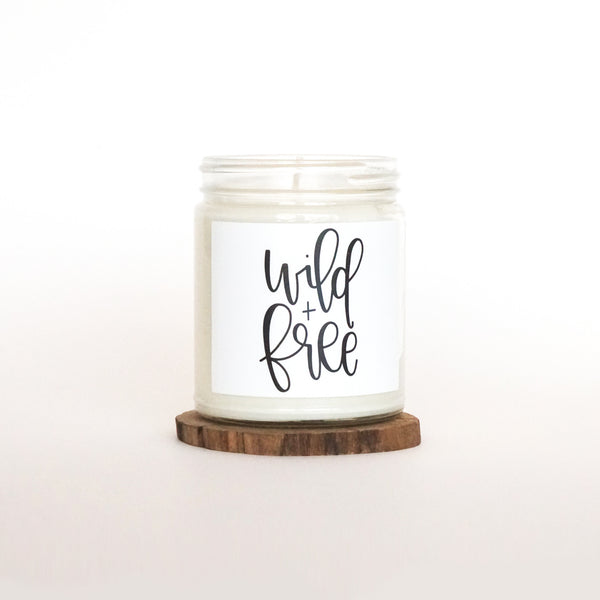 """Wild and Free"" Soy Candle"
