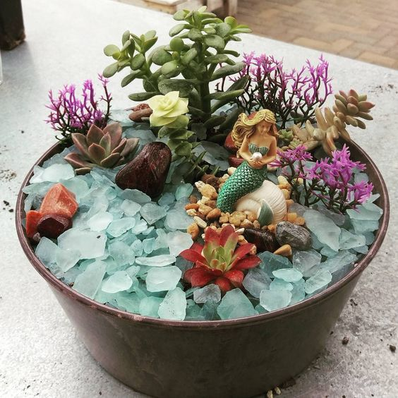 Have you heard about mermaid fairy gardens?