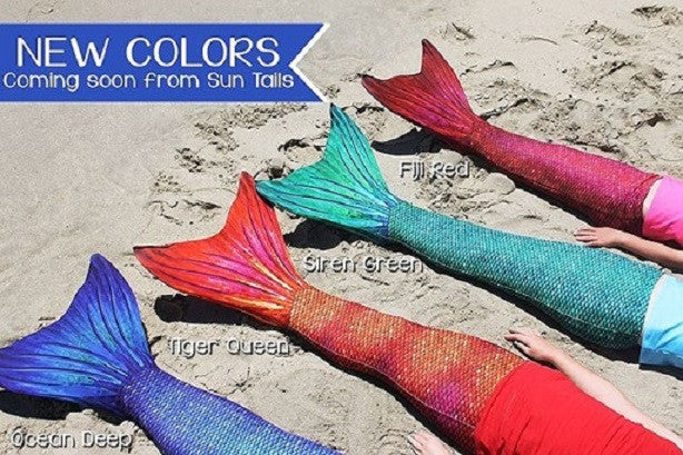 Sneak Peek At Our New SunTail Mermaid Tail Colors