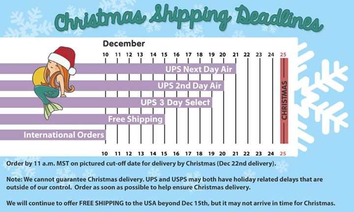 Shipping Deadlines!