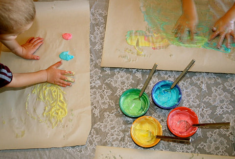 painting with kids