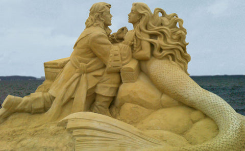 The Little Mermaid Beach Art