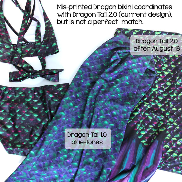 Dragon Tail print runs mermaids
