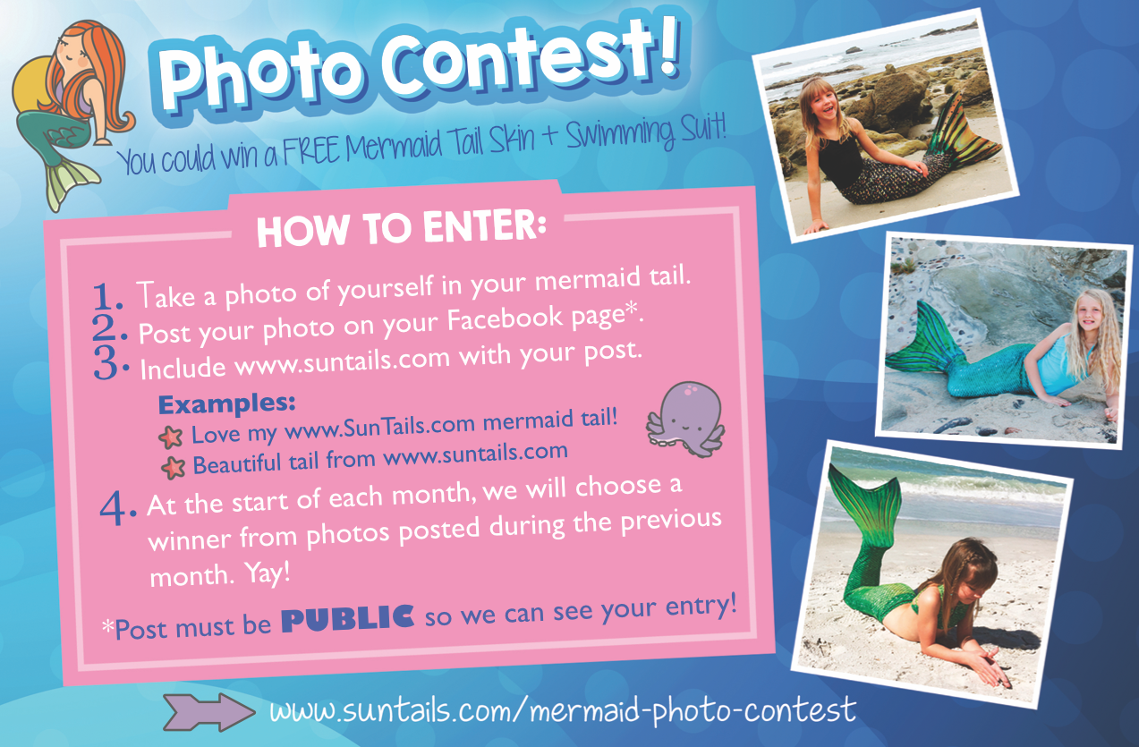 mermaid tails photo picture contest monthly giveaway free mermaid tails
