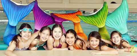 Kids colorful mermaid tails