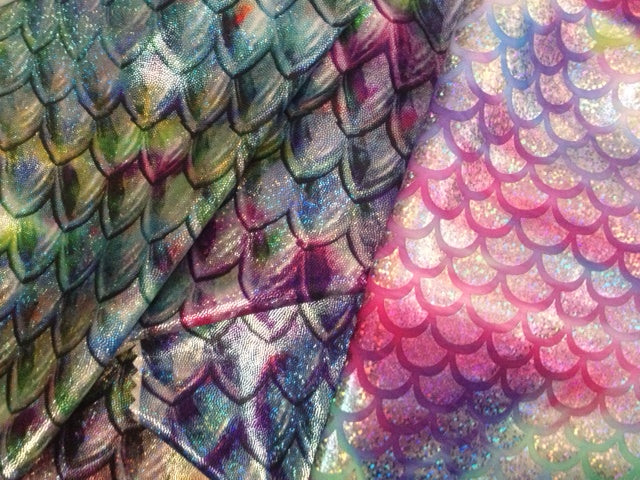 sparkle mermaid tail fabric