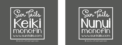Adult and Child Monofin Branding