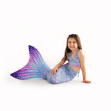 Aurora Borealis Mermaid Tail + Monofin Set