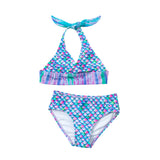 Aurora Borealis Mermaid Bikini Set