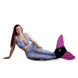 Aurora Borealis Mermaid Leggings + Monofin Set