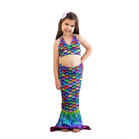 Hawaiian Rainbow Toddler Mermaid Tail
