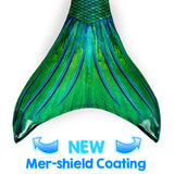 Siren Green Mermaid Tail Skin