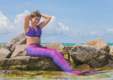 Bali Blush Mermaid Tail + Monofin Set