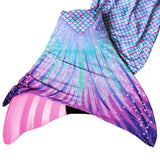 pastel pink and lavender mermaid tail with monofin for swimming