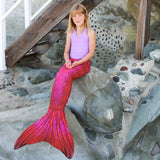 Fiji Red Mermaid Tail + Monofin Bundle