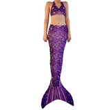 Paradise Purple Mermaid Tail Skin