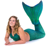 Siren Green Mermaid Tail + Monofin Set