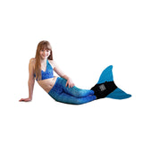 Blue Lagoon Mermaid Leggings + Monofin